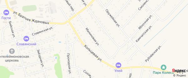 Малиновая улица на карте Белокурихи с номерами домов