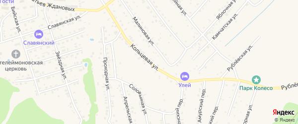 Кольцевая улица на карте Белокурихи с номерами домов