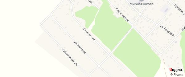 Степная улица на карте Мирного поселка с номерами домов