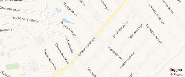 Славянская улица на карте Белокурихи с номерами домов