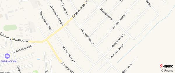 Оружейная улица на карте Белокурихи с номерами домов