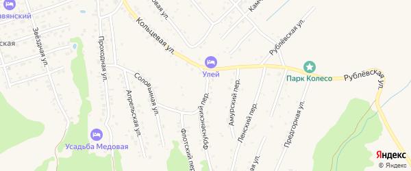 Фрунзенский переулок на карте Белокурихи с номерами домов