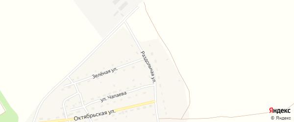 Раздольная улица на карте Октябрьского поселка с номерами домов