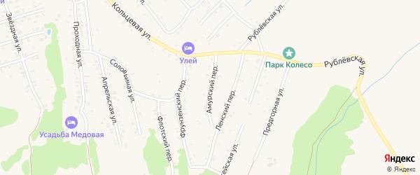Амурский переулок на карте Белокурихи с номерами домов