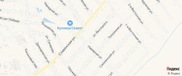 Улица Высоцкого на карте Белокурихи с номерами домов