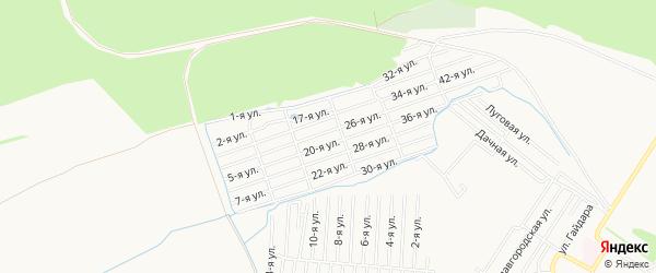 СТ Заря на карте Бийска с номерами домов