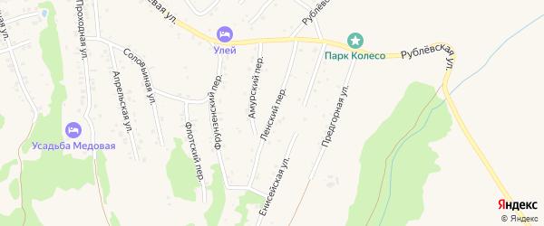 Ленский переулок на карте Белокурихи с номерами домов