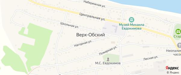 Садовая улица на карте Верха-Обского поселка с номерами домов