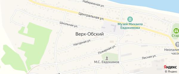 Улица Новоселов на карте Верха-Обского поселка с номерами домов