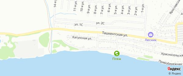 Катунская улица на карте Бийска с номерами домов