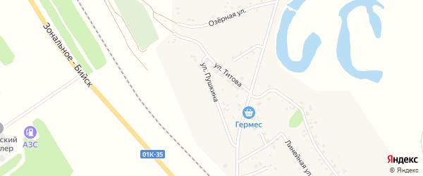Улица Пушкина на карте села Новой Чемровки с номерами домов