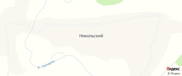 Западная улица на карте Никольского поселка с номерами домов