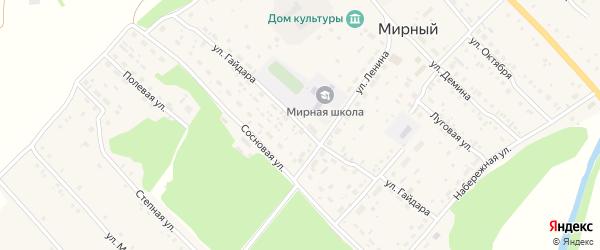 Улица Гайдара на карте Мирного поселка с номерами домов