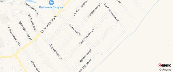 Смоленская улица на карте Белокурихи с номерами домов