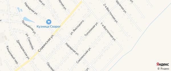 Тополиная улица на карте Белокурихи с номерами домов