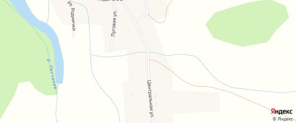Центральная улица на карте села Тоурака с номерами домов