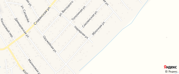 Яблочная улица на карте Белокурихи с номерами домов