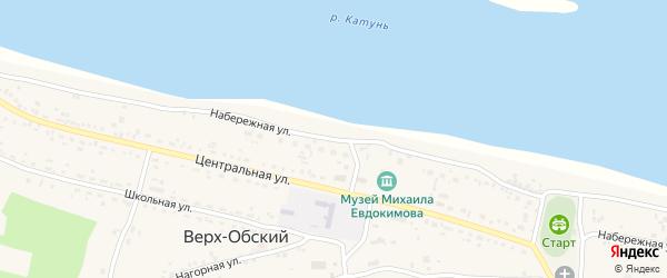 Набережная улица на карте Верха-Обского поселка с номерами домов