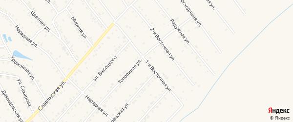 1-я Восточная улица на карте Белокурихи с номерами домов