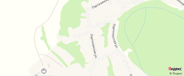 Партизанская улица на карте Точильного села с номерами домов