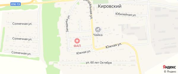 Комсомольская улица на карте Кировского поселка с номерами домов