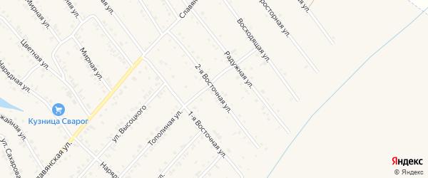 2-я Восточная улица на карте Белокурихи с номерами домов