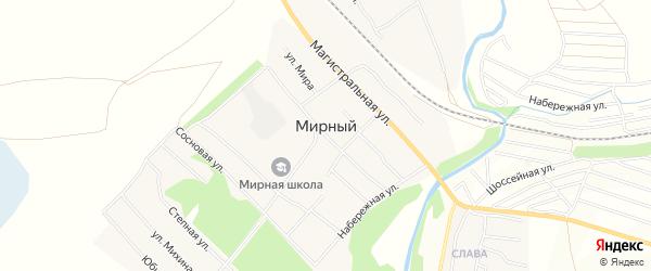 Карта территории сдт Мирного в Алтайском крае с улицами и номерами домов