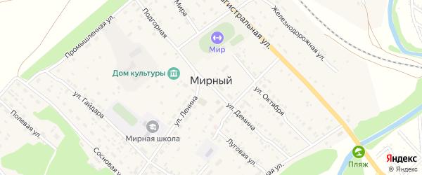 Солнечная улица на карте Мирного поселка с номерами домов