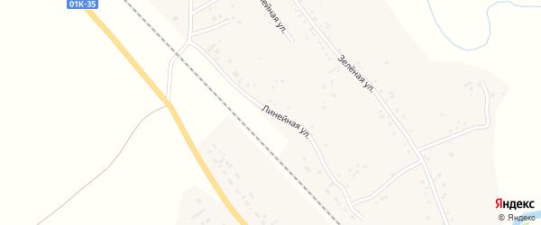 Линейная улица на карте села Новой Чемровки с номерами домов