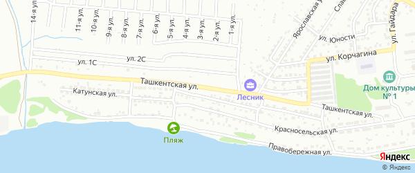 Ташкентская улица на карте Бийска с номерами домов