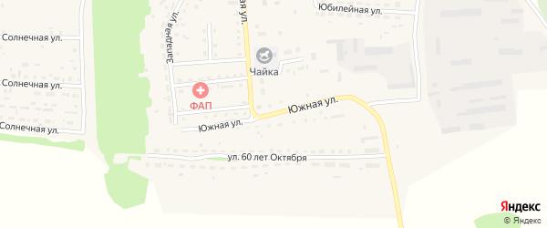 Южная улица на карте Кировского поселка с номерами домов