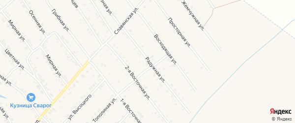 Радужная улица на карте Белокурихи с номерами домов