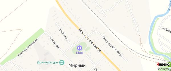 Магистральная улица на карте Мирного поселка с номерами домов