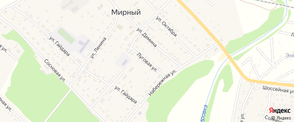Луговая улица на карте территории сдт Фанерщика с номерами домов