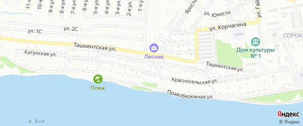 2-я Красносельская улица на карте Бийска с номерами домов
