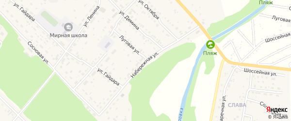 Набережная улица на карте Мирного поселка с номерами домов