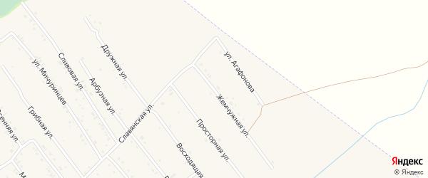 Жемчужная улица на карте Белокурихи с номерами домов