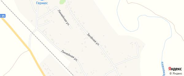 Зеленая улица на карте села Новой Чемровки с номерами домов
