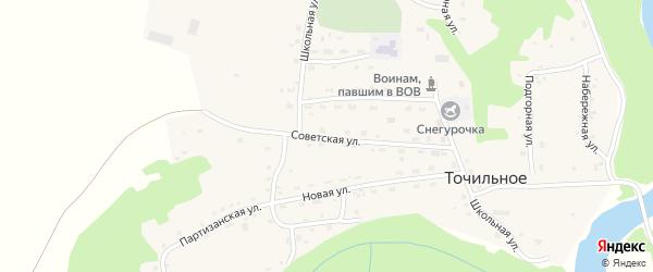Советская улица на карте Точильного села с номерами домов