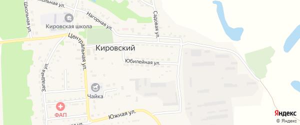 Юбилейная улица на карте Кировского поселка с номерами домов