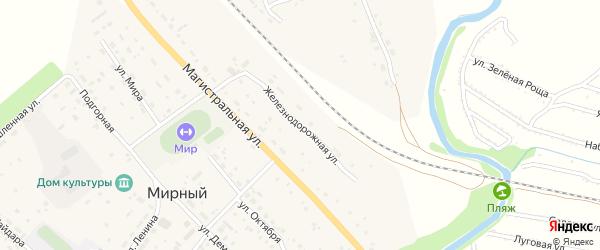 Железнодорожная улица на карте станции Уткуля с номерами домов