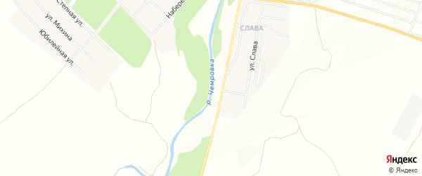 Карта станции Чемровка города Бийска в Алтайском крае с улицами и номерами домов