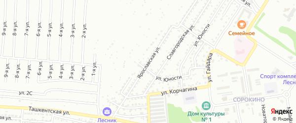 Ярославская улица на карте Бийска с номерами домов