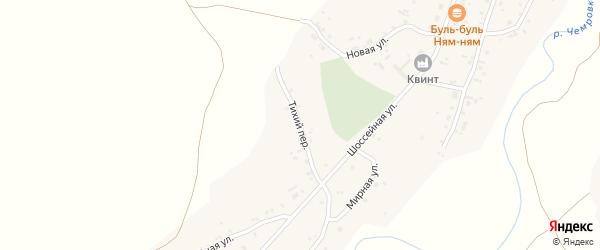 Тихий переулок на карте села Новой Чемровки с номерами домов