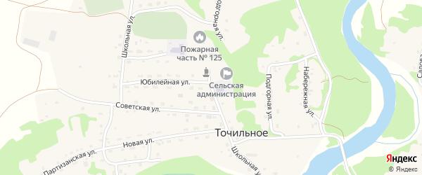 Школьная улица на карте Точильного села с номерами домов