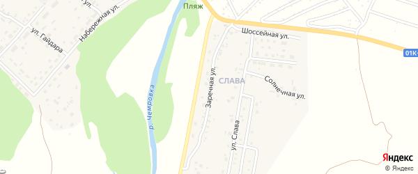 Заречная улица на карте Мирного поселка с номерами домов