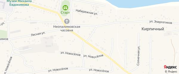 Улица Строителей на карте Верха-Обского поселка с номерами домов