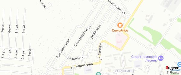 Улица Юности на карте Бийска с номерами домов