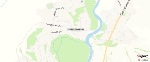 Карта Точильного села в Алтайском крае с улицами и номерами домов