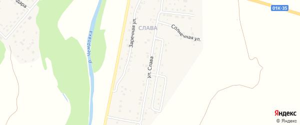 Улица Славы на карте Мирного поселка с номерами домов
